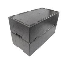 insulated food box with gastronorm trays