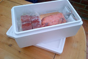 1.5kg Sample Poly Box Used To Send Salmon