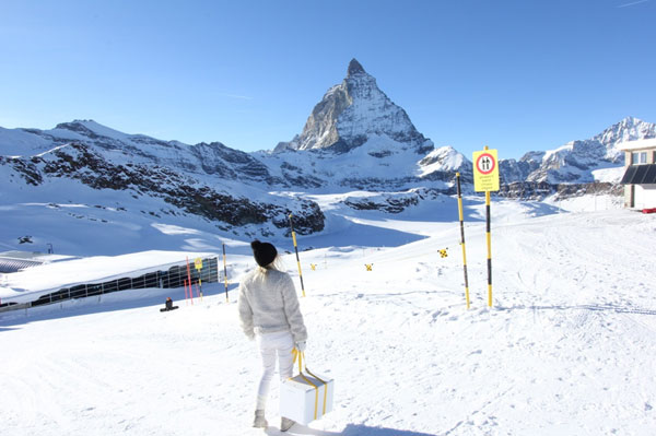 At the foot of the Matterhorn