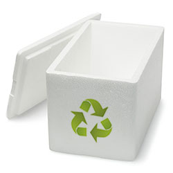 Polystyrene can be recycled